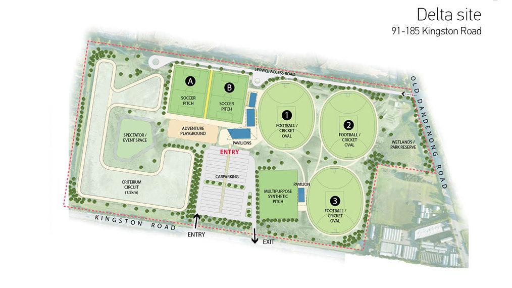 Kingston Council Delta site sporting fields plan